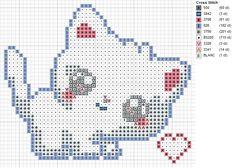 White Kitty Pattern by carand88.deviantart.com on @deviantART kawaii cross stitch