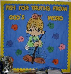 Fish for Truths from God's Word - Bulletin Board