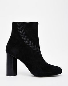 Image 2 ofSenso Sara Black Suede Heeled Ankle Boots