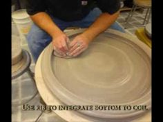 Throwing a large platter or a bowl using 40-50 lbs of clay - simplified ...