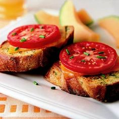 French Toast Gets Dilly - This savory French toast is perfect for brunch or served at dinner with a slice of ham.