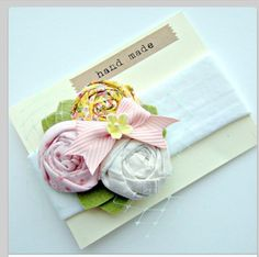Fabric flower card