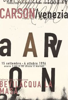 David Carson, 1996