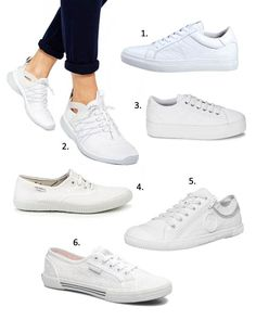 06ca64ce255 Tendance baskets blanches printemps été 2015. Chaussure Femmes