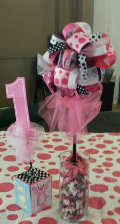 Table Decorations Pink Panther Theme, Pink Panthers, Table Decorations, Children, Birthday, Baby, Young Children, Boys, Birthdays