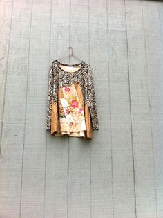funky upcycled cotton sweater dress / tunic / altered by CreoleSha