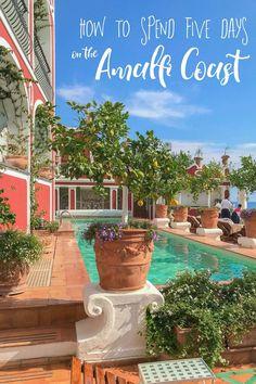 Five Day Amalfi Itinerary | Amalfi Coast Guide | Guide to Amalfi Coast | Amalfi Coast, Italy | Sorrento, Italy | Positano, Italy | Ravello, Italy | Amalfi, Italy | Capri, Italy | #AmalfiCoast #Positano #Italy #ItalyItineraries