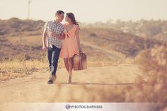 Like the location and how the couple appears the center/focus in a deserted area