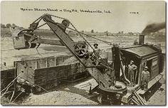 Marion Steam Shovel in Clay Pit in Steubenville, IN