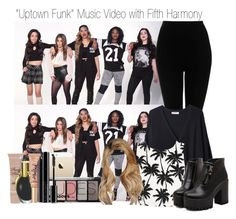 """""""""""Uptown Funk"""" Music Video with Fifth Harmony"""" by dino-girl-975 ❤ liked on Polyvore featuring Topshop, Organic by John Patrick, Dr. Martens, Too Faced Cosmetics, H&M, NARS Cosmetics and Giorgio Armani"""