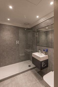 Grossefliesenkleinesbadgrautaupeduscheglastür Bad - Welche fliesen für ein kleines bad