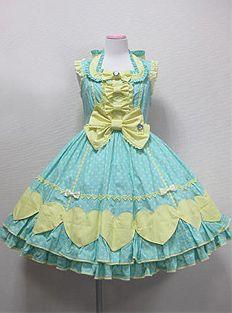 Angelic Pretty / Jumper Skirt / Colorful Heart JSK