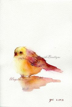 Little Bird watercolor painting by Wayside Boutique Watercolor Bird, Watercolor Animals, Watercolor Paintings, Watercolours, Watercolor Portraits, Watercolor Landscape, Abstract Paintings, Art Aquarelle, Watercolor Techniques