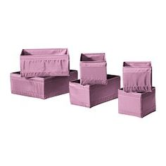 SKUBB Box, set of 6 - pink - IKEA