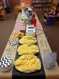 Waffle bar- This would be a good FRG breakfast fundraiser!                                                                                                                                                                                 More