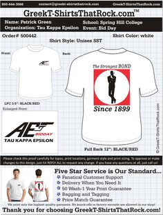 Start your Tau Kappa Epsilon T-Shirts HERE!   #tke #teke #taukappaepsilon Just click this image and upload your ideas!