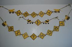 Happy Birthday Construction theme banner by CCreativeMind on Etsy