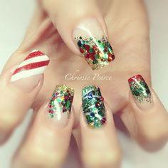christmas by chrissiesnaildesigns #nail #nails #nailart