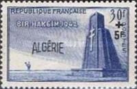 """[The 10th Anniversary of the Battle of Bir-Hakei - Previous Issue of 1945 Surcharged """"ALGERIE+5 F"""", type DF]"""