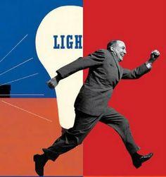 """Light"", US Rural Electrification Administration, Lester Beall, 1937"