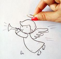 #angel #fly #sky