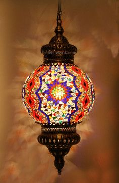 Turkish Style Mosaic Pendant Lamp 25 cm