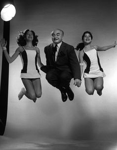 David Seymour Chim with Jane and Irene Halsman by Philippe Halsman