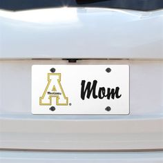 Appalachian State Mountaineers Mom Plastic License Plate