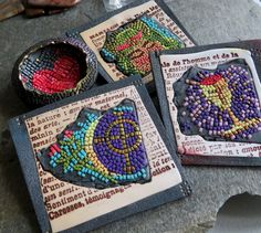 Micromosaics brooches, and pendant
