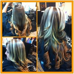 Two in one Ombré with chunky highlights