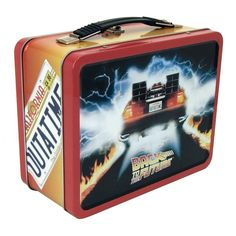Featuring the Delorean Time Machine on one side and Marty's 'Space Zombies' comic book cover art on the other, this sturdy metal retro-styled lunchbox is perfect for time travelers and break rooms, a must for any Back To The Future fan! Tin Lunch Boxes, Vintage Lunch Boxes, Metal Lunch Box, The Future Movie, The Future Is Now, Movie Posters For Sale, Movie Poster Art, Toy Art, Hades