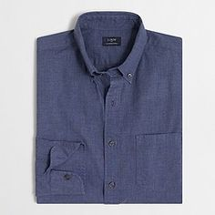 Factory heathered cotton shirt