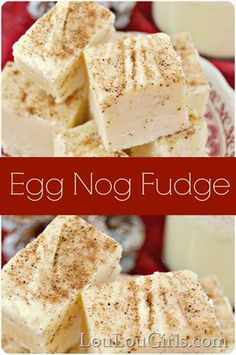 Egg Nog Fudge Recipe What to do with all that leftover Egg Nog? Super easy Egg Nog Fudge Recipe What to do with all that leftover Egg Nog? Holiday Desserts, Holiday Baking, Easy Desserts, Holiday Recipes, Delicious Desserts, Dinner Recipes, Christmas Dessert Recipes, Christmas Baking Gifts, Holiday Appetizers