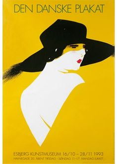Poster for an exhibition of Danish poster art ('Kameliadamen' by Sven Brasch)