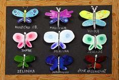 Má sbírka motýlů. Vytvořily školáci v našem výtvarném kroužku.