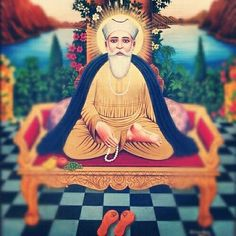 Artwork of Sikh Guru Nanak Dev Ji Guru Nanak Photo, Guru Nanak Ji, Nanak Dev Ji, Guru Granth Sahib Quotes, Guru Pics, Sikh Quotes, Guru Gobind Singh, Religious Photos, Last Supper