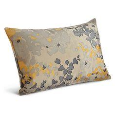Room & Board - Fleur Hand Block-printed Throw Pillows - Modern Patterned Throw Pillows - Modern Home Decor Black Pillows, Modern Throw Pillows, Gold Pillows, Decorative Throw Pillows, Decorative Items, Room And Board Living Room, Ottoman In Living Room, Small Office Furniture