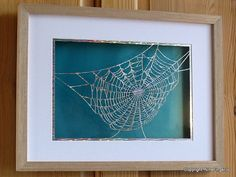 Paper Cutting Art Cobweb Papercutting Silver Paper by NineFingerJo