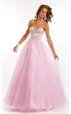 Long Strapless Sweetheart Ball Gown PT-6768