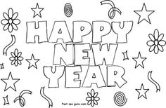 printable new year 2014 clipart coloring pages printable coloring pages for kids