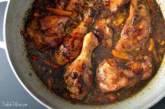 Jamaican Brown Stew Chicken Delish D Lites Jamaican Cuisine, Jamaican Dishes, Jamaican Recipes, Oxtail Recipes, Carribean Food, Caribbean Recipes, Jamaican Brown Stew Chicken, Cooking Recipes, Recipes