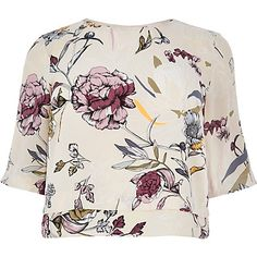 RI Plus cream floral print top £25.00