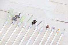 nature mark making tools brushes