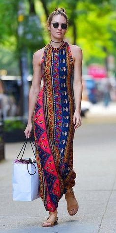 Enthic Sheath Long Dress/Mara hoffman Dresses