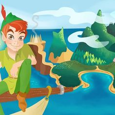 Peter Pan in Neverland! #peterpan #tinkerbell #disney #neverland #captainhook #disneyart #disneyfanart