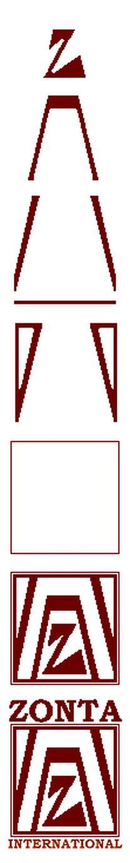 Zonta-merkki muodostuu viidestä eri symbolista, ja Zonta -nimi tulee Sioux-intiaanien kulttuurista tarkoittaen oikeudenmukaista ja luotettavaa.