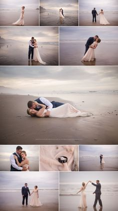 Oregon Coast Wedding Photography, Hug Point, After Wedding Session, Trash the Dress, Beach Wedding, Shannon Hager Photography