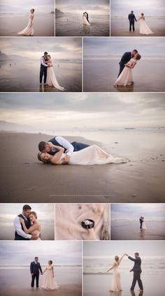 Oregon Coast Wedding Photography, Hug Point, After Wedding Session, Trash the Dress, Beach Wedding, Shannon Hager Photography