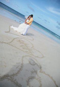 Beach wedding photography Ideas. 3 hearts in the sand... #DestinationWedding