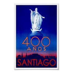 Viagem do vintage de Santiago o Chile por Zazilicious